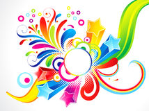 Abstract colorful floral with star Royalty Free Stock Photo
