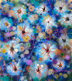 Abstract colorful floral, watercolor painting. Stock Photography