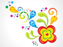 Abstract colorful florals Stock Images