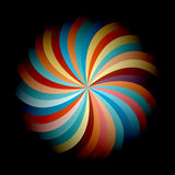 Abstract colorful flower. Vivid and colorful vector flower Stock Photography
