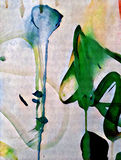 Abstract colorful flower acrilic painting. Abstract colorful acrilic painting for collage and design Stock Images