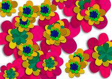 Free Abstract Colorful Flower Background Design Stock Photography - 136927852