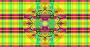 Abstract colorful flower background with a detailed flashy hypnotic pattern and a beautiful interchanging flower pattern