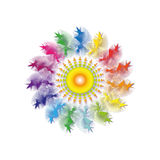 Abstract colorful flower. Royalty Free Stock Photo