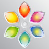 Abstract colorful flower Stock Images