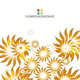 Abstract colorful flowers background template. Layout design for creative tasks Stock Photos