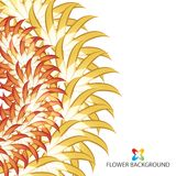 Abstract colorful flowers background template. Layout design for creative tasks Stock Photography