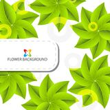 Abstract colorful flowers background template. Layout design for creative tasks Stock Image