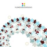 Abstract flowers colorful background template. Abstract colorful flowers background template layout design for creative needs Royalty Free Stock Image