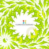 Abstract colorful flowers background template. Layout design for creative tasks Royalty Free Stock Image