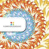 Abstract colorful flowers background template. Layout design for creative tasks Royalty Free Stock Photography