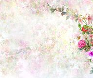 Abstract colorful flowers watercolor painting. Spring multicolored. In nature vector illustration