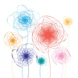 Abstract colorful flowers Stock Photos