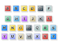 Abstract Colorful Font Royalty Free Stock Photos