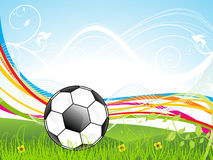 Abstract colorful football background Stock Photo