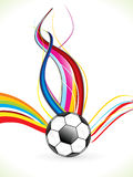Abstract colorful football background Stock Image