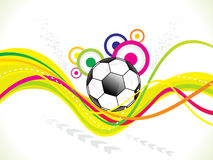 Abstract colorful football background Stock Images