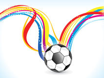 Abstract colorful football background Royalty Free Stock Photos