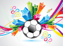 Abstract colorful football explode background Stock Image