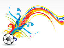 Abstract colorful football explode Stock Photo