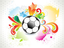 Abstract colorful football grunge design Royalty Free Stock Images