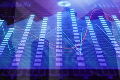 Finance and trade wallpaper. Abstract colorful forex chart wallpaper. Finance and trade concept. 3D Rendering Stock Photography