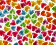 Abstract colorful fractal background. With repeating shape of heart Stock Photo
