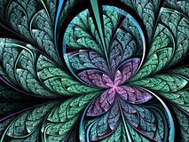 Abstract colorful fractal butterfly or flower. Digital artwork for creative graphic design vector illustration