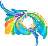 Abstract colorful frame background. Multicolored abstraction with circle frame on white background Stock Photography