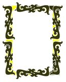 Abstract colorful frame with decorations isolated Royalty Free Stock Photos
