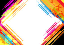 Abstract colorful frame design Stock Photo