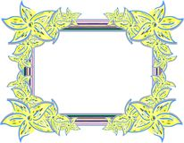 Abstract colorful frame with flowers Stock Photography