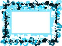 Abstract colorful frame with spots Stock Images