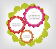 Abstract colorful frames. Vector background. Set of cartoon frames. This is file of EPS8 format stock illustration