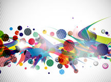 Abstract colorful futuristic design Stock Images