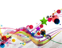 Abstract colorful futuristic design. Vector illustration Royalty Free Stock Photography