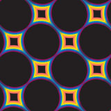 Abstract colorful galaxy star on black background seamless pattern Royalty Free Stock Photo