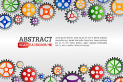 Abstract colorful gears background. Mechanism with integrated ge Stock Photos