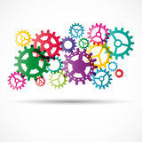 Abstract colorful gears Stock Photography