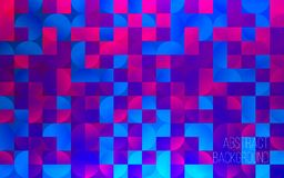 Abstract colorful geometric background. Backdrop for design. Colored squares and circles. Modern vector illustration Stock Image