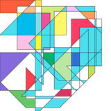 Abstract colorful geometric background. Stock Images