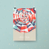 Abstract colorful geometric background design for poster vector illustration