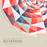 Abstract colorful geometric background design for poster Royalty Free Stock Photos