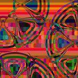 Abstract colorful geometric background,  illustration. Lig Stock Images