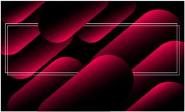 Abstract colorful geometric background. Red and dark Dynamic shapes composition with a rectangular frame in the center royalty free illustration