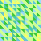 Abstract colorful geometric background. Seamless background of green triangles Stock Image