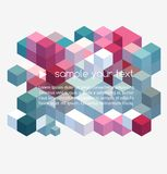 Abstract colorful geometric background Stock Image