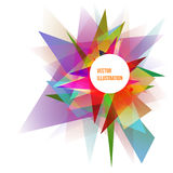 Abstract Colorful Geometric Background Vector Illustration. For Your Business Stock Illustration