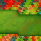 Abstract colorful geometric background. Vector illustration for your design Stock Images