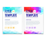 Abstract colorful geometric background. Vector template design of flyer, brochure, web sites, cover book, page Stock Photography